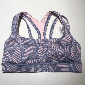 Lululemon pink & grey sports bra